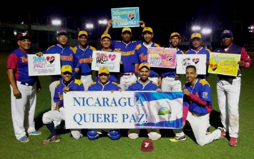 Solidaridad con Nicaragua de la Selección Venezolana de Softball de personas con discapacidad de miembros superiores
