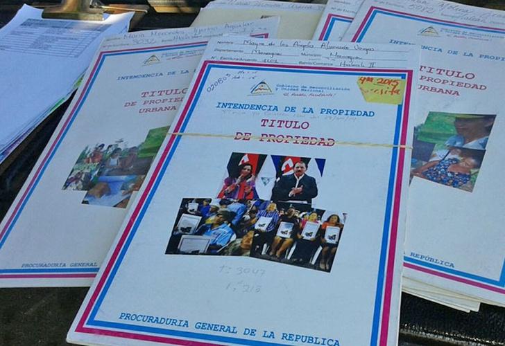 600 titulos de propiedad en Nicaragua