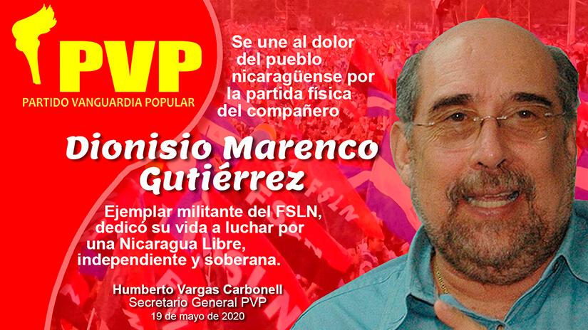 Condolencia Nicho Marenco vanguardia popular