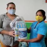 Hermanamiento británico para la Educación, Cultura y Arte en Nicaragua, entrega de equipos de higiene y limpieza a familias de Sutiaba, León