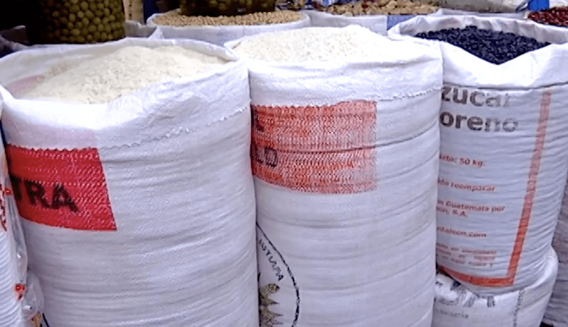 producción de arroz y frijol