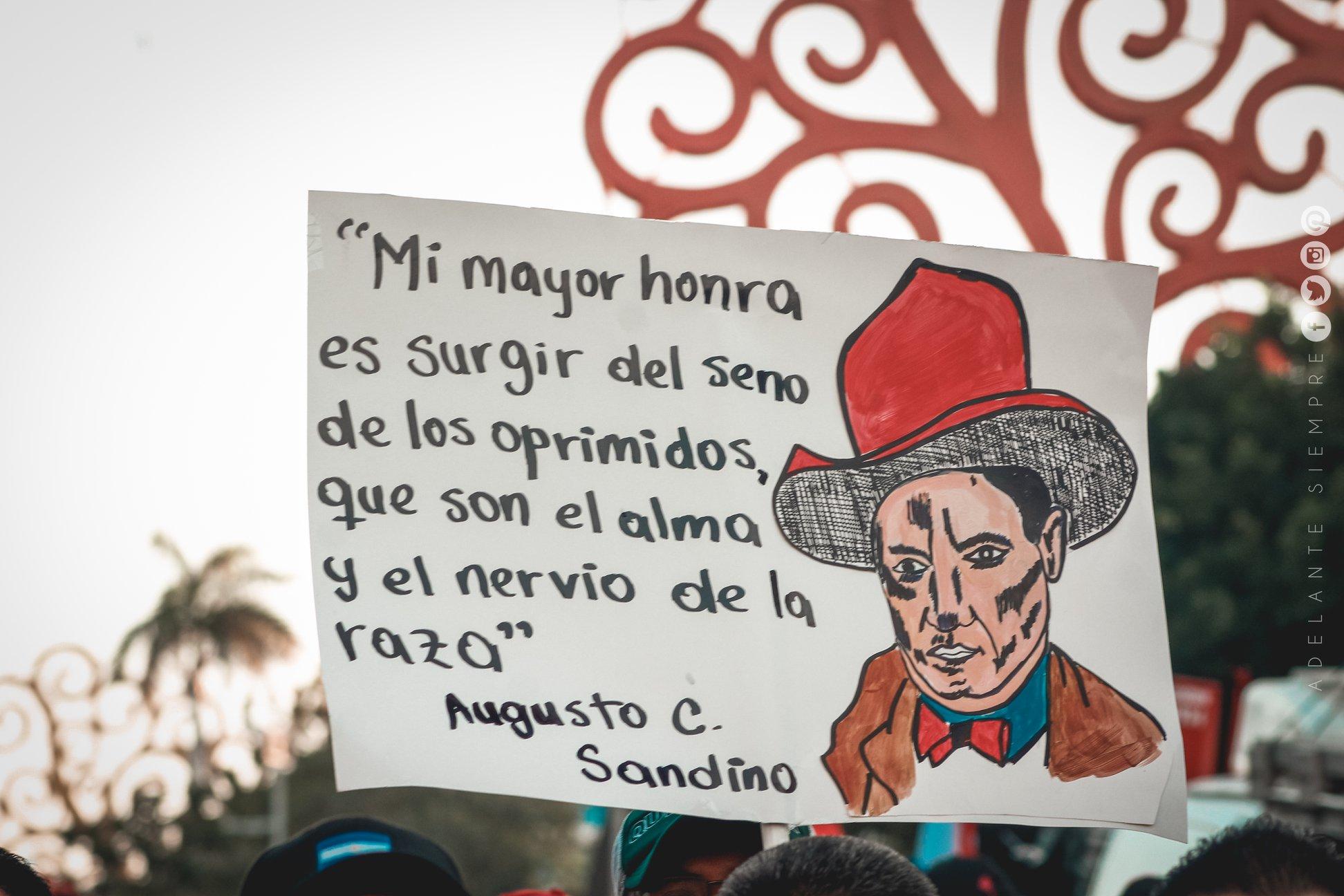 sandino pancarta sandinista fsln nicaragua