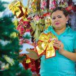Mercado Oriental lleno de artículos navideños