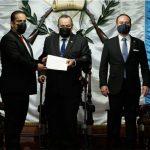 Embajador de Nicaragua presenta cartas credenciales ante el Presidente Alejandro Giammattei