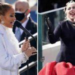 Presentación de Lady Gaga y Jennifer López en la toma de posesión de Biden