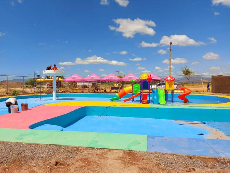 Alcaldía de Sébaco construye nuevo Parque Acuático Infantil