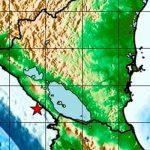 Fuerte sismo de magnitud 5.0 se registra en el pacífico de Nicaragua