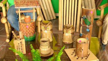Todo listo para la feria del bambú en Managua