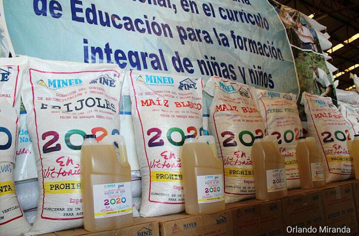 Inicia tercera distribución de merienda escolar en toda Nicaragua