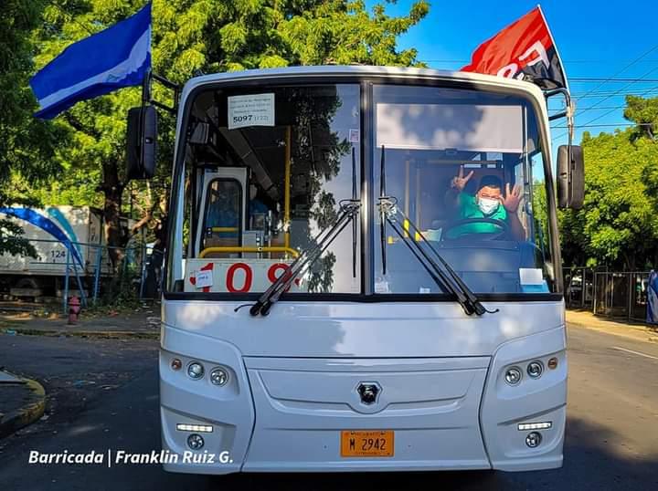 Más buses rusos a la disposición y servicio del pueblo nicaragüense